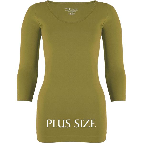 wholesale Magic SmoothWear with Sleeves Avocado Three Quarter Sleeve Plus - Plus Size Fits (L-2X) TQ