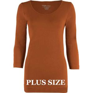 wholesale Magic SmoothWear Three Quarter & Long Sleeve Paprika Three Quarter Sleeve Plus - Plus Size Fits (L-2X) TQ