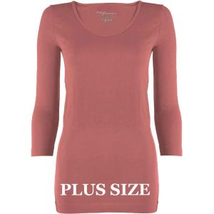 wholesale Magic SmoothWear Three Quarter & Long Sleeve Rose Three Quarter Sleeve Plus - Plus Size Fits (L-2X) TQ