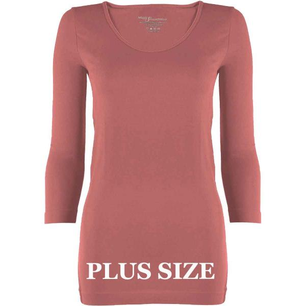 wholesale Magic SmoothWear with Sleeves Rose Three Quarter Sleeve Plus - Plus Size Fits (L-2X) TQ