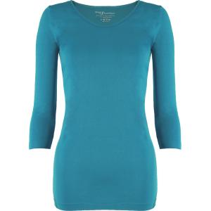 wholesale Magic SmoothWear Three Quarter & Long Sleeve Aqua Three Quarter Sleeve - One Size Fits (S-XL) TQ