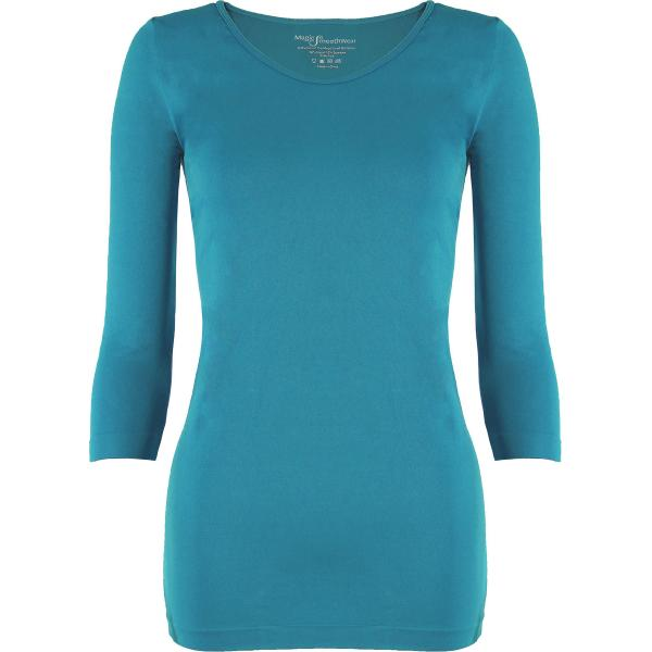wholesale Magic SmoothWear with Sleeves Aqua Three Quarter Sleeve - One Size Fits (S-XL) TQ