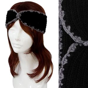Metallic Print Shawls with Buttons #2001 Black Knitted Head Wrap -