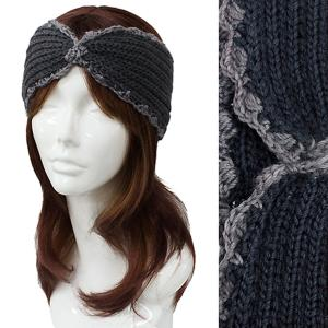 Metallic Print Shawls with Buttons #2001 Grey Knitted Head Wrap -
