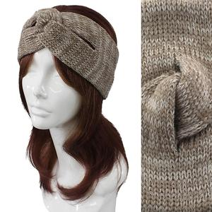 Metallic Print Shawls with Buttons #2014 Beige Knitted Head Wrap -