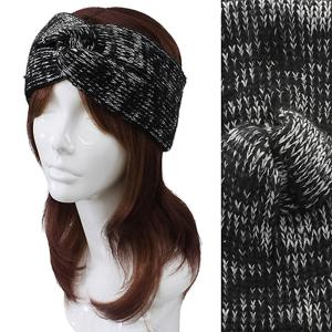 Metallic Print Shawls with Buttons #2014 Black Knitted Head Wrap -