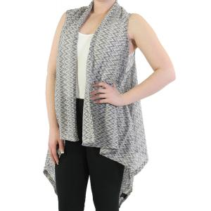 Vests - Light Knit Chevron 8977 Black/Grey  -