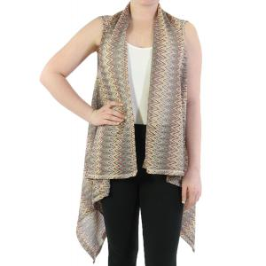 Vests - Light Knit Chevron 8977 Pink/Green -