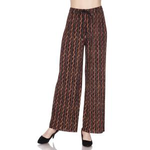 Pleated Wide Leg Pants - Georgette Ankle Length - #12 Vertical Chain w/ Drawstring - One Size Fits All