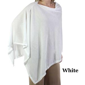 wholesale Poncho - Jersey Knit White (#1) -