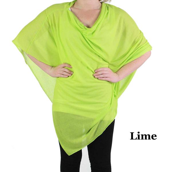 Poncho - Jersey Knit Lime (#9) (MB) -