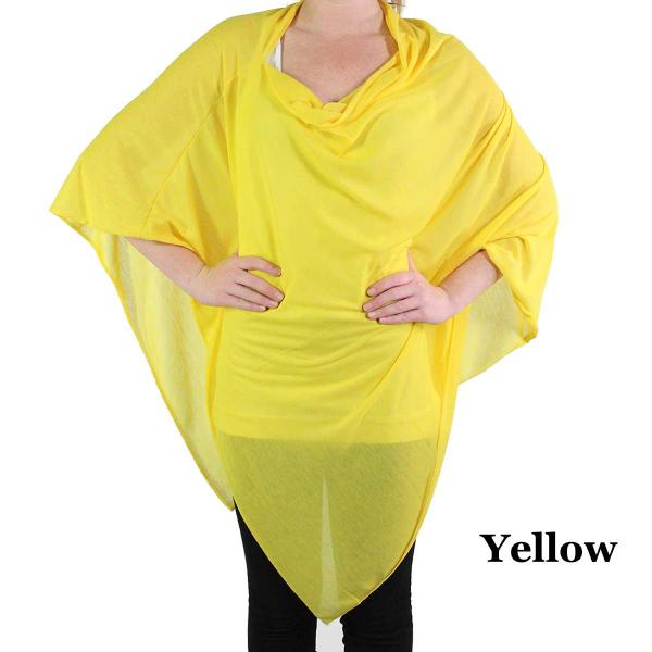Poncho - Jersey Knit Yellow (#6) (MB) -