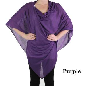 wholesale Poncho - Jersey Knit Purple (#7) -