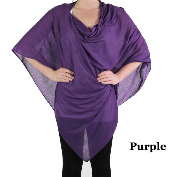 Poncho - Jersey Knit Purple (#7) -