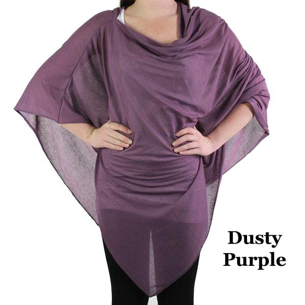Poncho - Jersey Knit Dusty Purple (#78) (MB) -