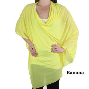 wholesale Poncho - Jersey Knit Banana (#32) -