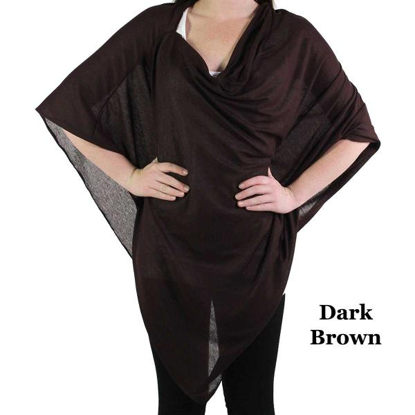Poncho - Jersey Knit Dark Brown (#28) -