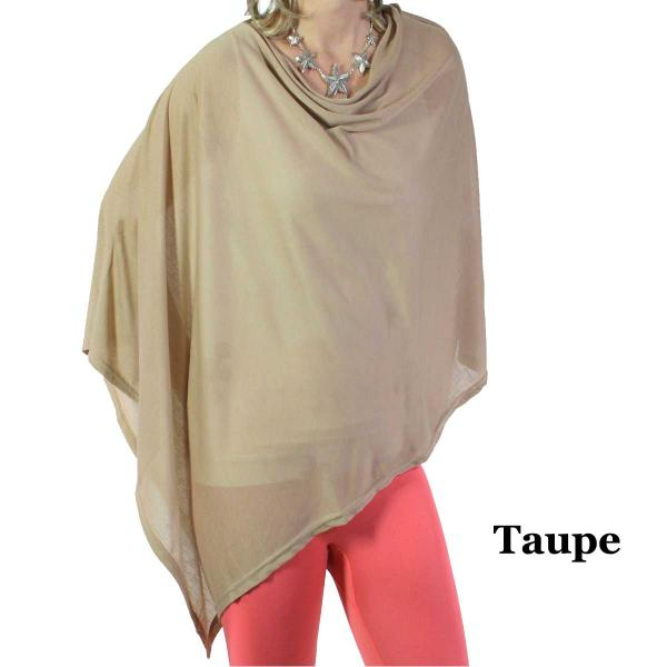wholesale Poncho - Jersey Knit Taupe -