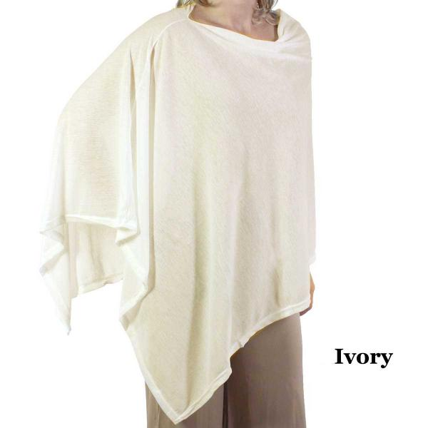 wholesale Poncho - Jersey Knit Ivory (MB) - One Size Fits All