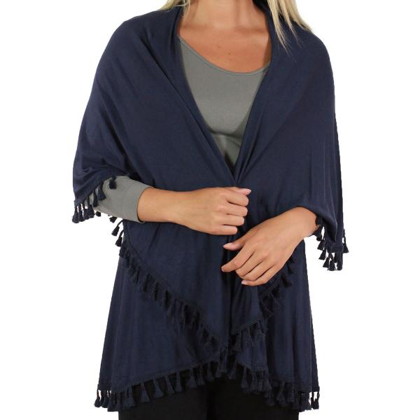 wholesale Vests - Solid w/ Tassels 511 Navy* (MB) -