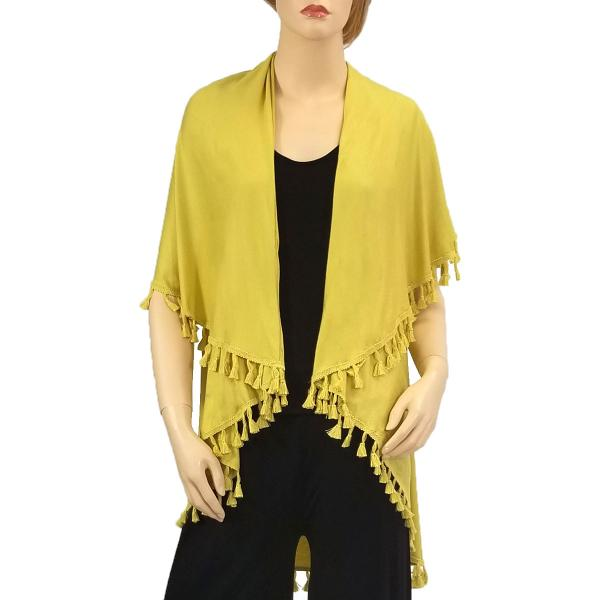 wholesale Vests - Solid w/ Tassels 511 Pear -