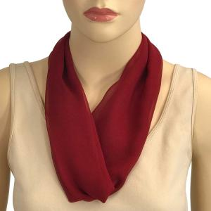 Silky Dress Scarves with Magnetic Clasp Solid Burgundy (Bronze Magnet) -