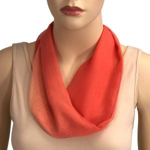 Silky Dress Scarves with Magnetic Clasp #106 Corals (Tri-Color) (Silver Magnet) -
