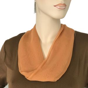 Silky Dress Scarves with Magnetic Clasp Solid Copper (Silver Magnet) -