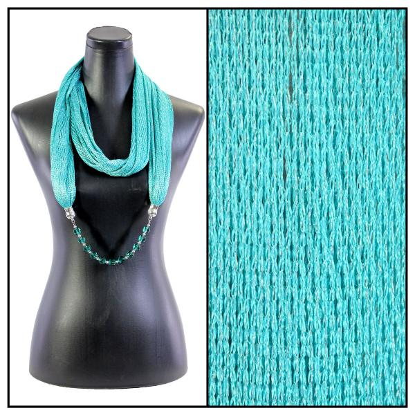 wholesale Infinity Scarves - Metallic w/ Jewelry Fishnet - Teal (#8) -