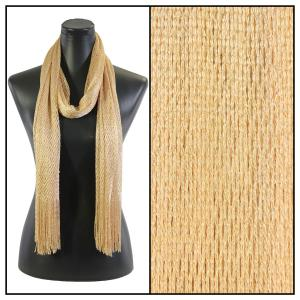Wholesale  Gold (#22)Oblong Scarves - Metallic Fishnet 74