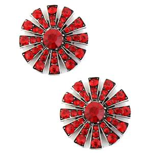 wholesale Magnetic Brooches Starburst Design - Double Sided 408 Red (Double Sided) -