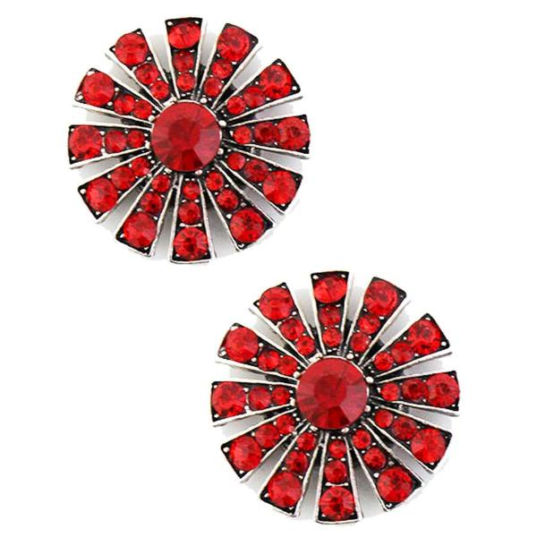 Magnetic Brooches Starburst Design - Double Sided 408 Red (Double Sided) -