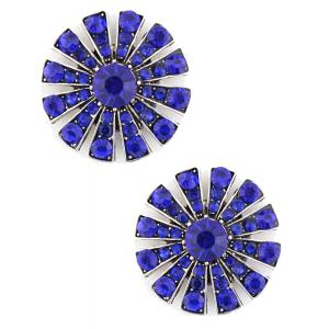wholesale Magnetic Brooches Starburst Design - Double Sided 408 Sapphire (Double Sided) -