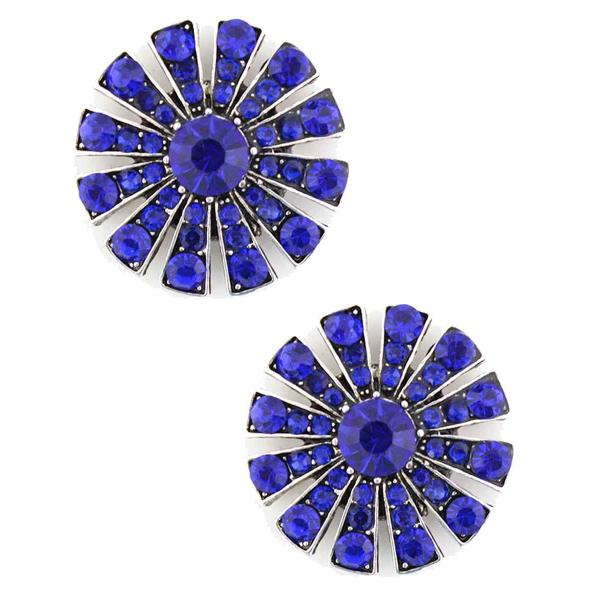 Magnetic Brooches Starburst Design - Double Sided 408 Sapphire (Double Sided) -
