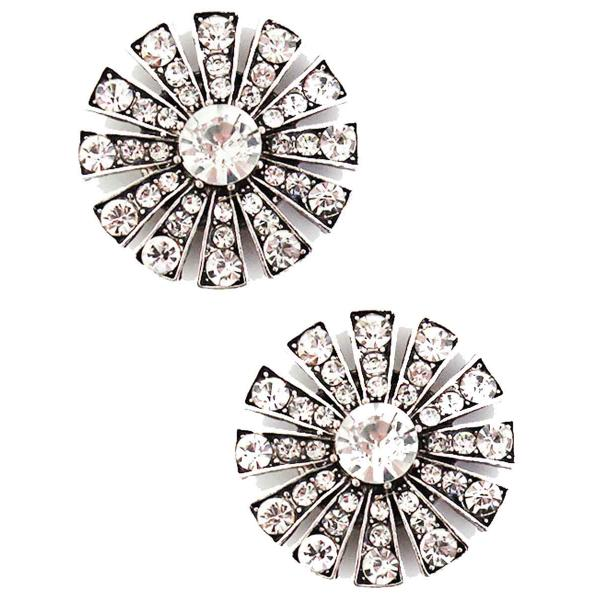 Magnetic Brooches Starburst Design - Double Sided 408 Clear (Double Sided)  -