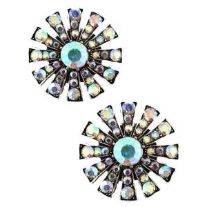 wholesale Magnetic Brooches Starburst Design - Double Sided 408 AB (Double Sided) -