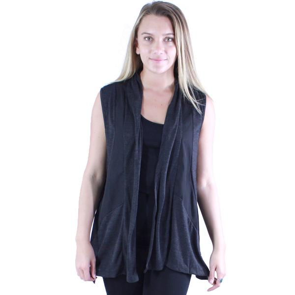 wholesale Vests - Sporty Look 7702 Charcoal -