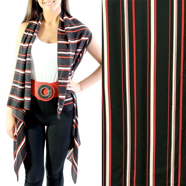 wholesale Crepe Vests - 1310 Black-Red -
