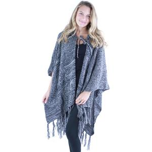 wholesale Ruana Capes - Knit Hoodie 9146 Black Ruana Capes - Knit Hoodie 9146 -
