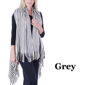 wholesale Vests - Knit Striped 9182 Grey -