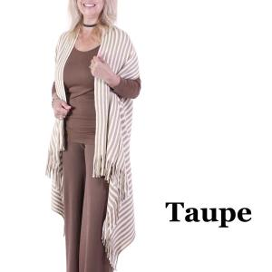 wholesale Vests - Knit Striped 9182 Taupe -