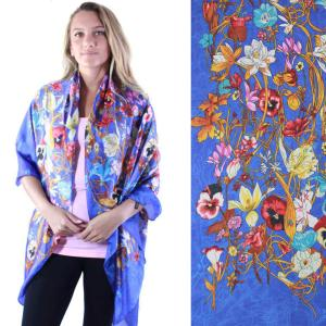 Shawls - Boutique Charmeuse #07 Royal Flowers & Vines -