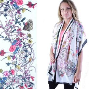 Shawls - Boutique Charmeuse #11 Victorian Floral -