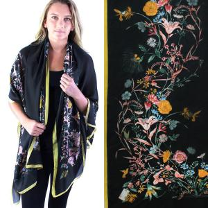 Shawls - Boutique Charmeuse #15 Victorian Floral -