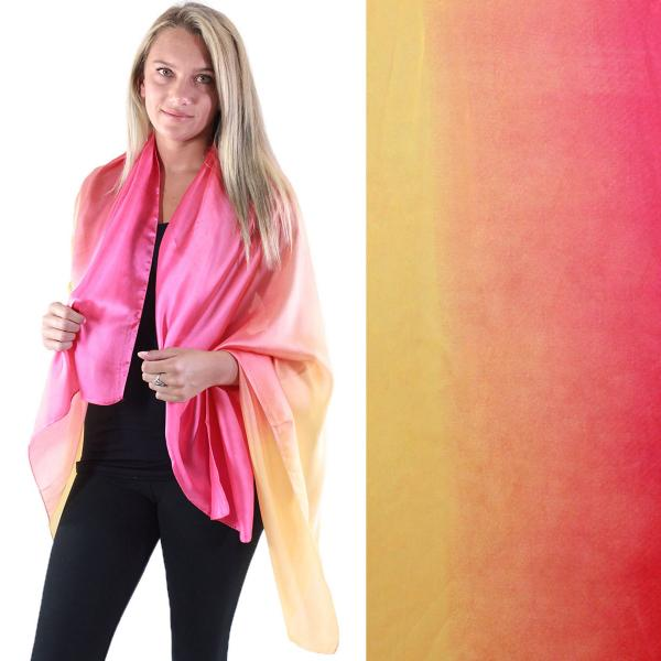 wholesale Shawls - Boutique Charmeuse #16 Ombre Tangerine-Gold -