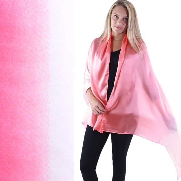 wholesale Shawls - Boutique Charmeuse #17 Ombre Peach-White -