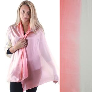 Shawls - Boutique Charmeuse #19 Ombre Peach-Beige -