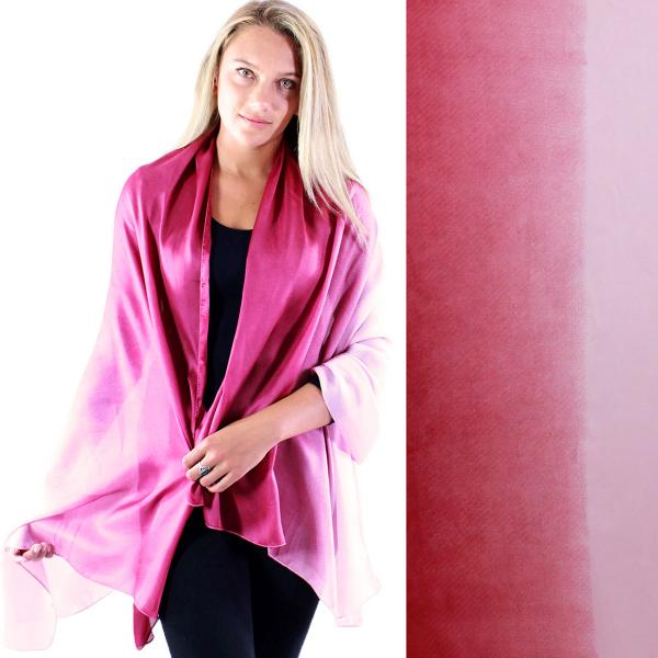wholesale Shawls - Boutique Charmeuse #21 Ombre Raspberry -