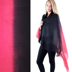 Shawls - Boutique Charmeuse #23 Ombre Black-Red -