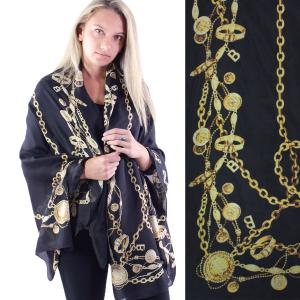 Shawls - Boutique Charmeuse #27 Chains Black-Gold -